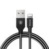 KABEL LIGHTNING BASEUS IPHONE 5 5S SE 6 6S PLUS 7 IPAD CZARNY MFI