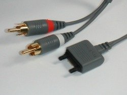 Kabel Sony Ericsson MMC-60 AUDIO Oryginał 2x RCA Chinch FAST PORT