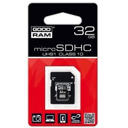 Karta Pamięci Micro SDHC 32GB GOODRAM + Adapter SD Class 10 UHS