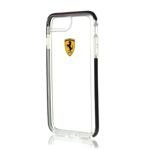 Etui FERRARI Apple iPhone 7 Plus 8 Plus Bezbarwny Czarny Case