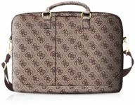 "Torba na laptopa Guess GUCB154GB 15"" brąz/brown 4G Uptown"