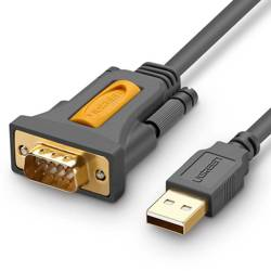 Kabel UGREEN USB Do RS-232 CR104 1.5m Szary