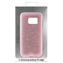 PURO Glitter Shine Cover - Etui Samsung Galaxy S7 edge (Rose Gold)