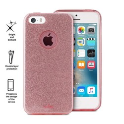 PURO Glitter Shine Cover - Etui iPhone SE / iPhone 5s / iPhone 5 (Rose Gold)