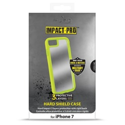 PURO Impact Pro Hard Shield - Etui iPhone 8 / 7 (limonkowy)